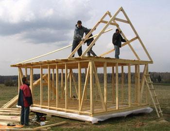 Построить щитовой дом своими руками