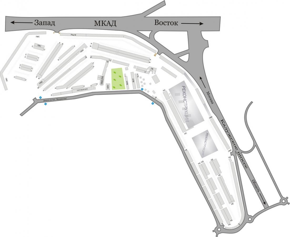 Схема павильонов рынка мельница 41 км мкад
