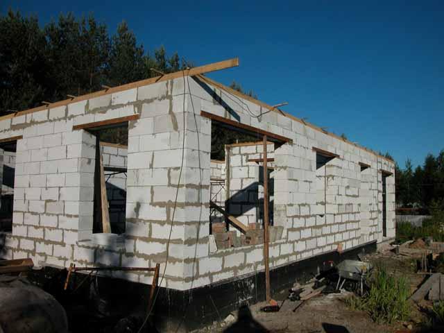 Как построить дом из пенобетона 45