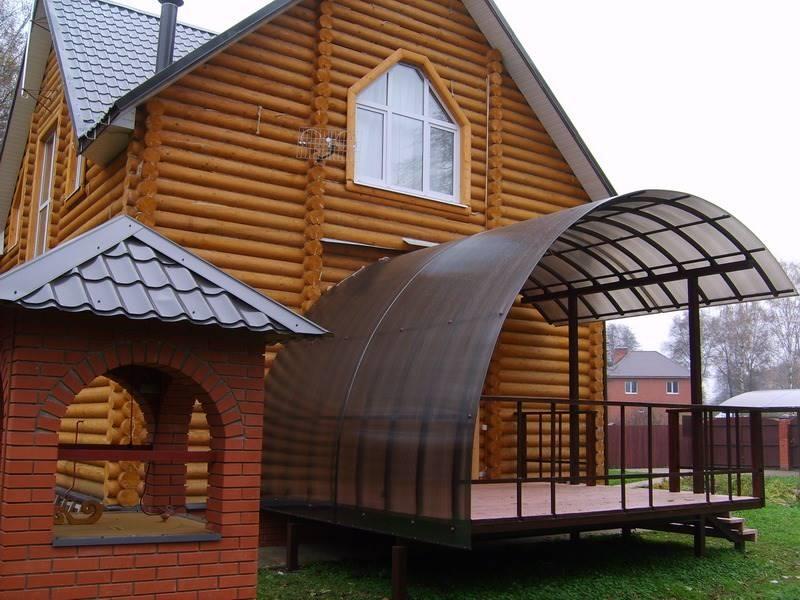 Навесы из дерева к дому: фото, инструкция изготовления