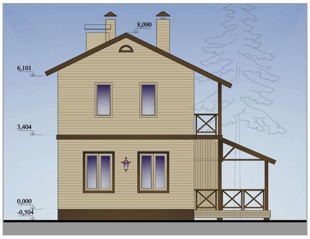 Дом 6 на 8 двухэтажный из бруса своими руками