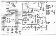 Принципиальная схема электрооборудования станка фрезерной группы
