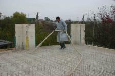 Заливка бетона под пилораму
