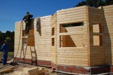 Построить брусовый дом своими руками