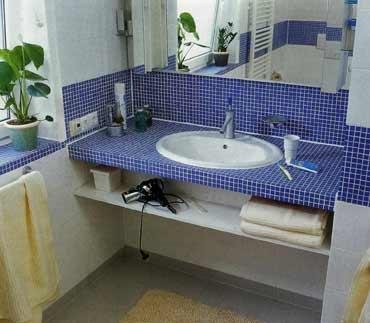 Столешница в ванной своими руками фото
