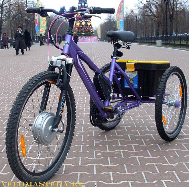 Как сделать трехколесный велосипед на моторе
