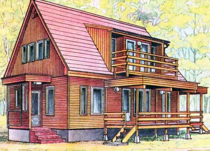 Финские дома - особенности конструкции, описание технологии .