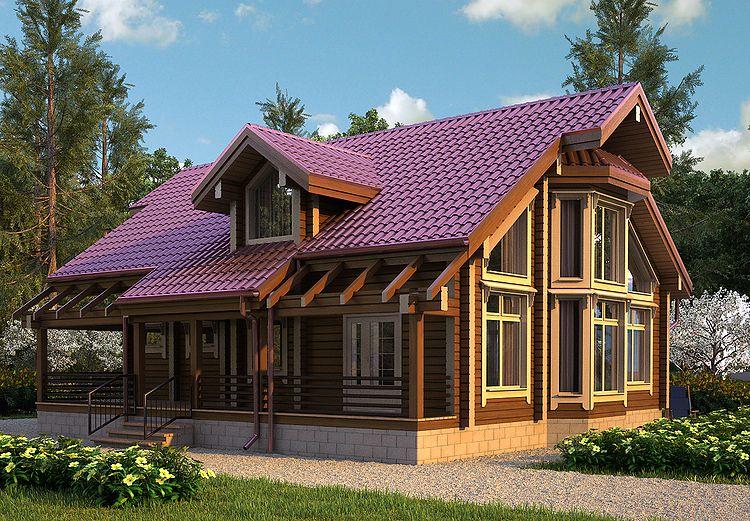240Загородный дом внешний дизайн