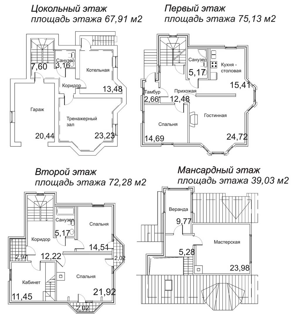 Строительство дома своими руками чертежи