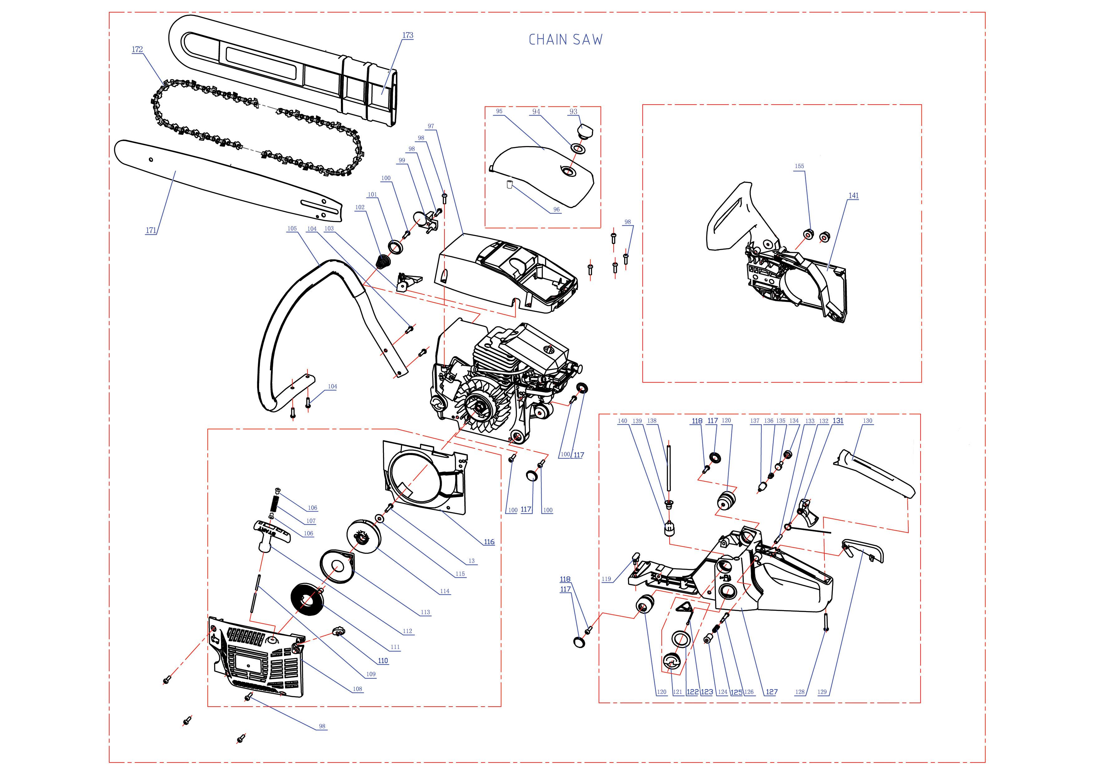 Описание устройство схема бензопилы пцб 14 35