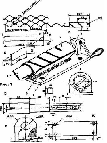 изготовления сетки (размер