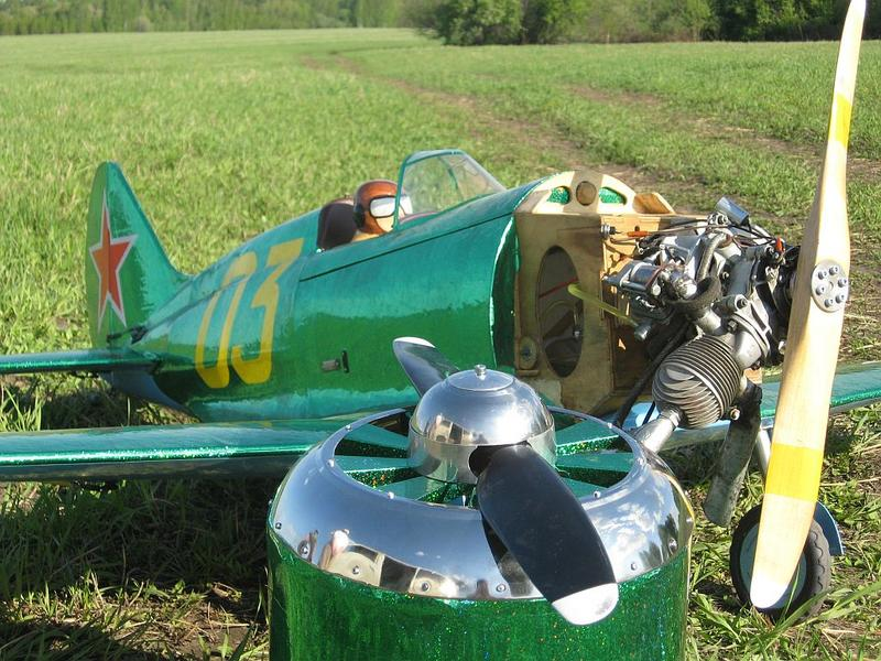 Самолёт с двигателем